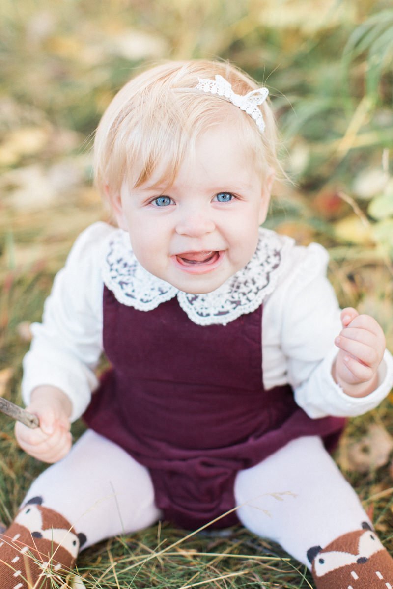 Calgary Family Fall Sessions daughter portrait