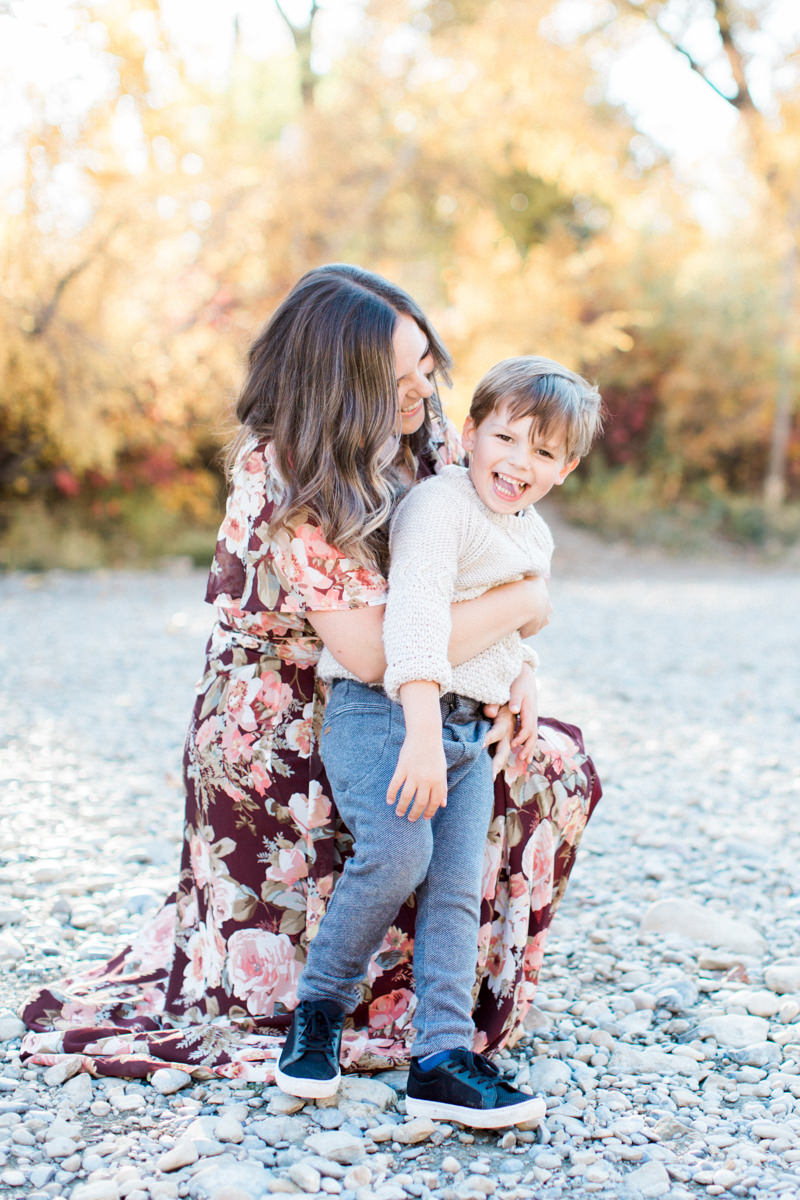 Calgary Family Fall Sessions Mother daughter