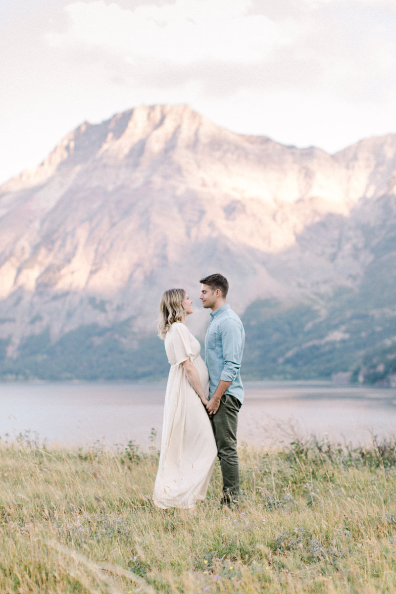 Calgary and Banff Maternity Photography outdoor Waterton summer session