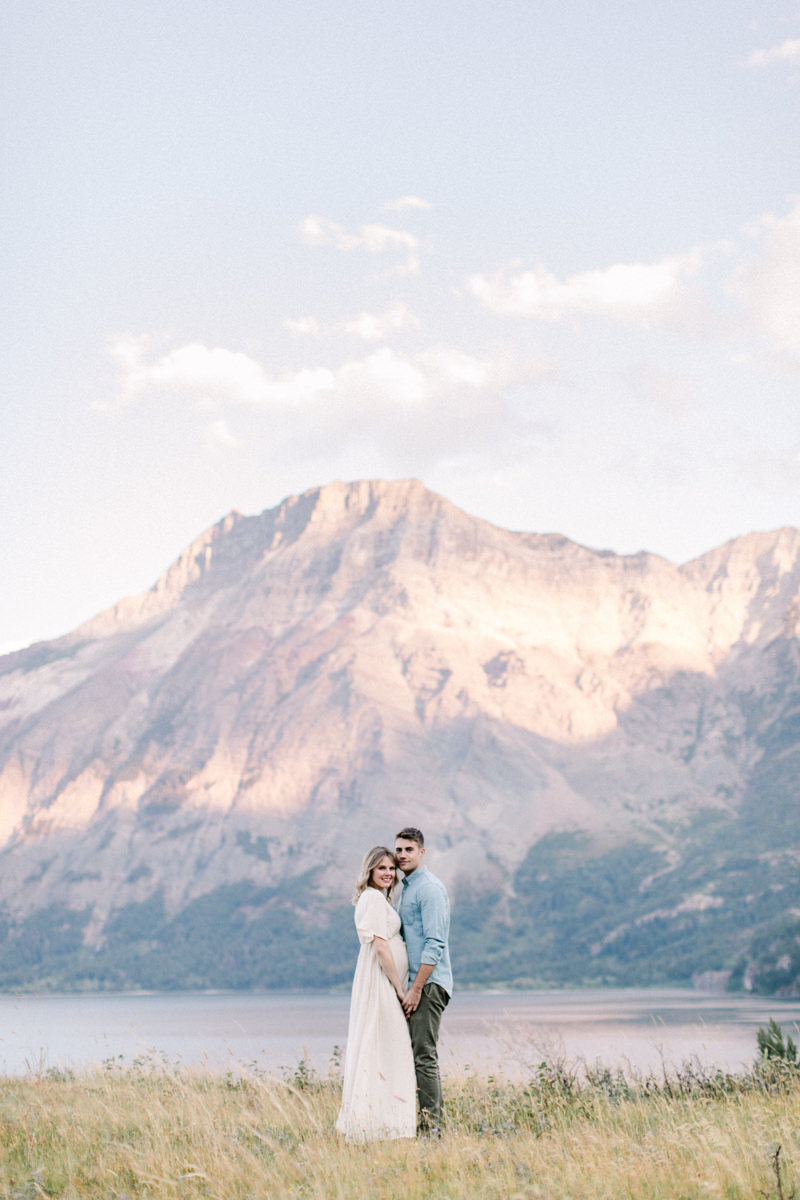 Calgary and Banff Maternity Photography outdoor Waterton summer session mountain shot