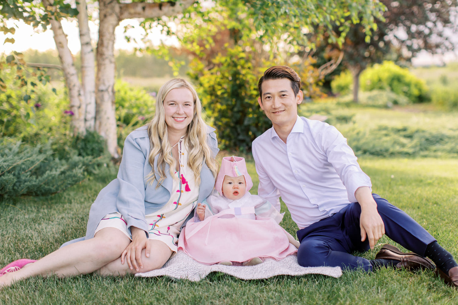 First Korean birthday family photo shoot